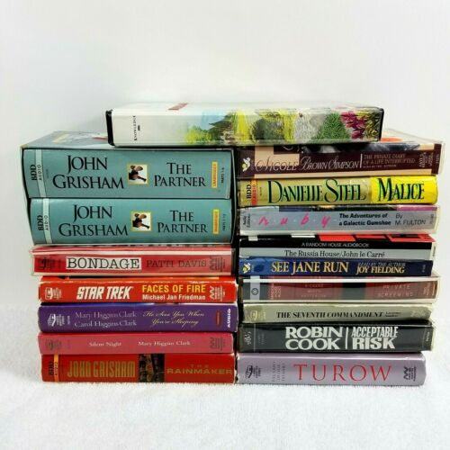 Books on Audio Cassettes For The Blind and Visually Impaired Mixed Lot of 16