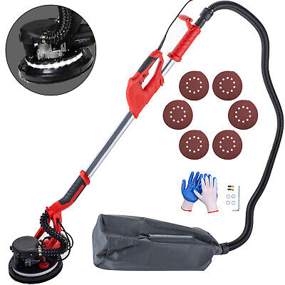 Drywall Sander 850w 225mm Extendable Handle 5 Speed W Led Light And Vacuum Bag