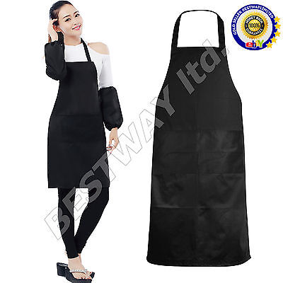 Plain Apron One Pocket Chefs Butcher Kitchen Cooking Craft Catering Baking BBQ