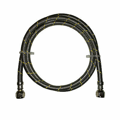Propane  Natural Gas Line 5 Ft Stainless Steel Braided Hose Lp Lpg Grill Parts