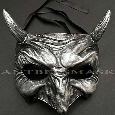 Halloween Devil Half Face Demonic Masquerade Ball Costume Party Mask