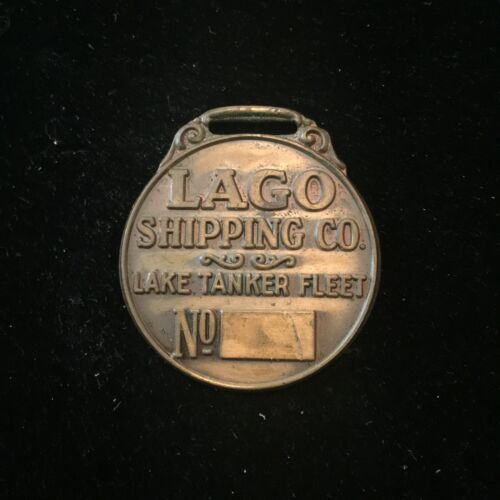 Vintage LAGO Shipping Company Lake Tanker Fleet Watch Fob