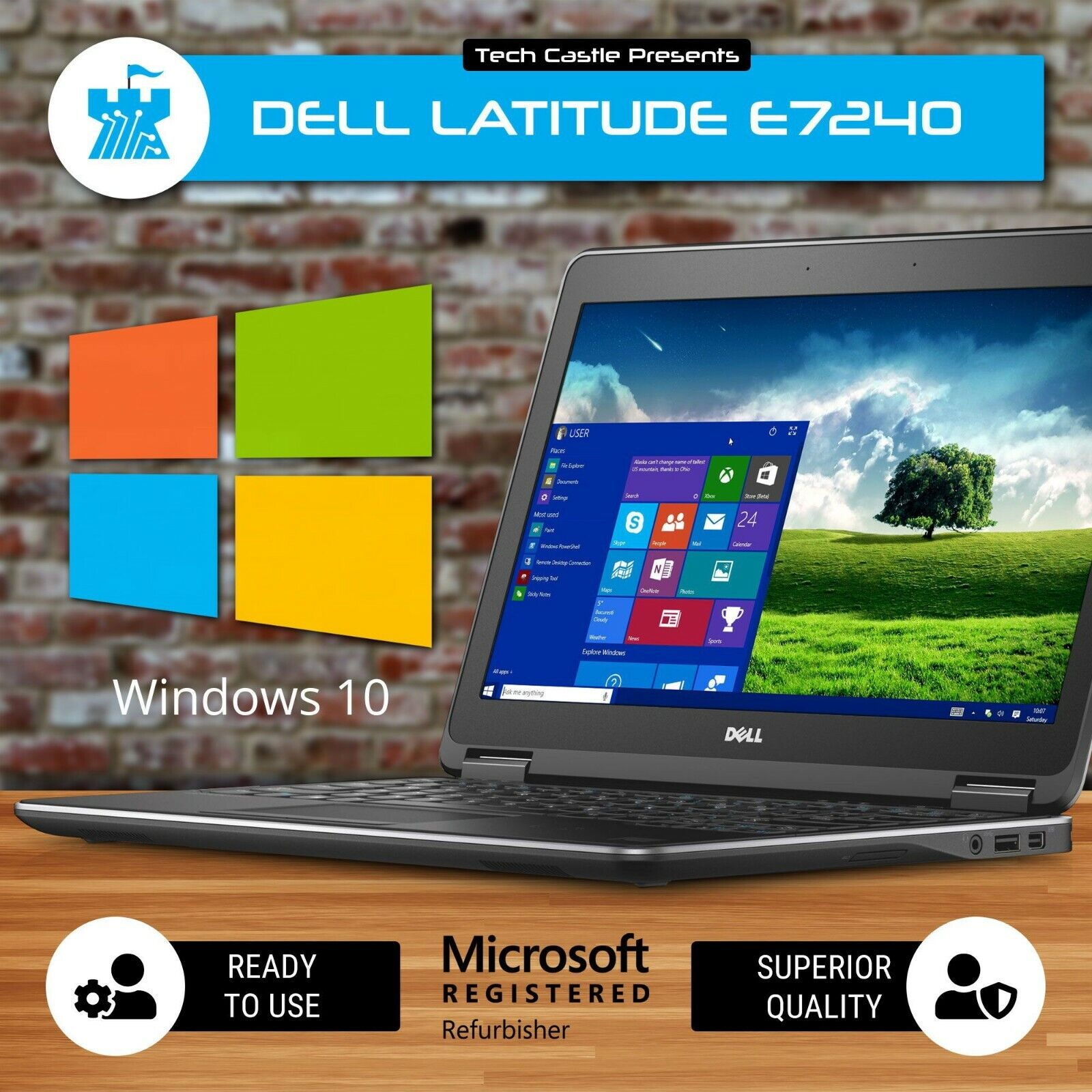 "Laptop Windows - Dell Laptop Computer Intel i5 Windows 10 8GB RAM Fast SSD HD WEBCAM 12.5"" LCD PC"
