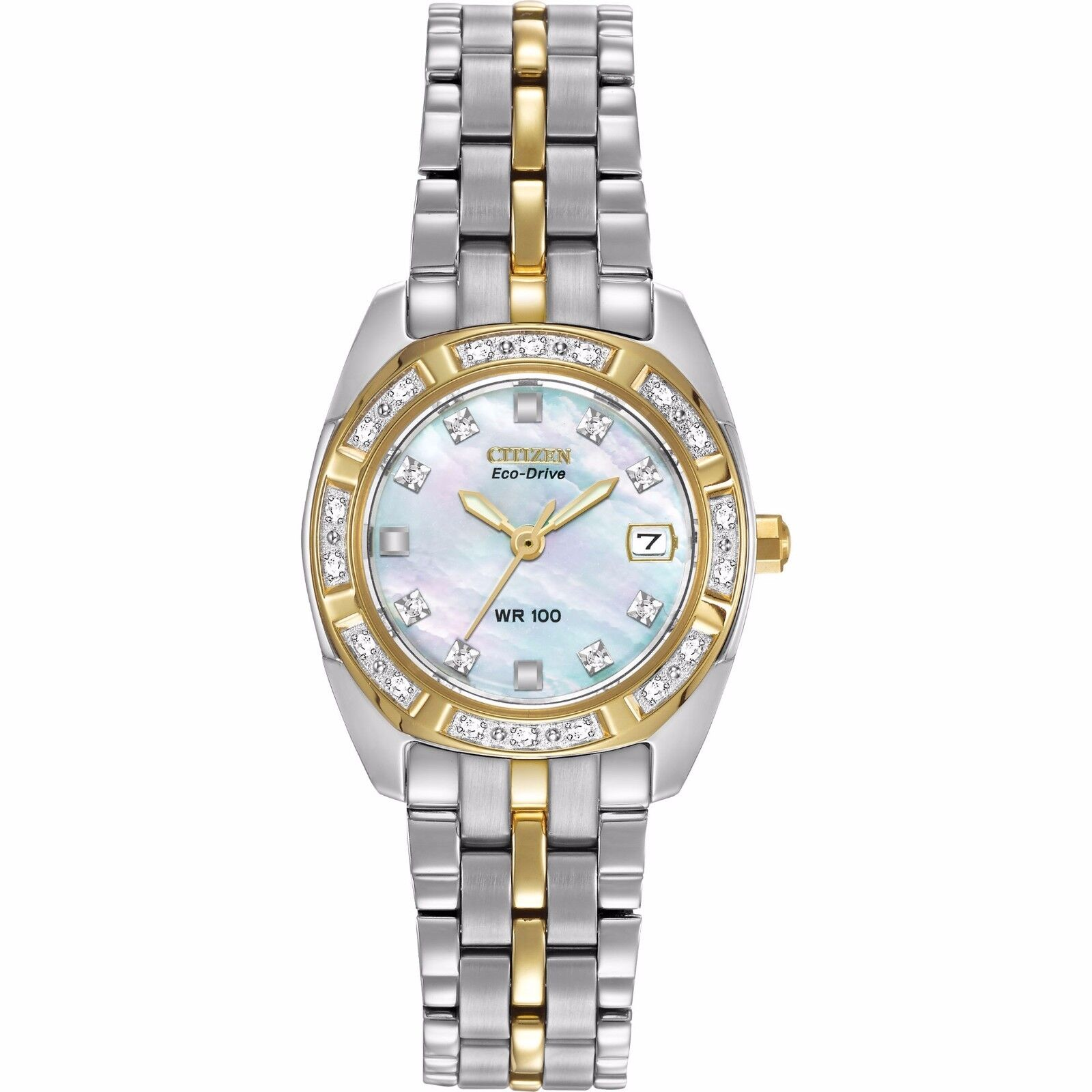 $129.99 - Citizen Eco-Drive Women's EW1594-55D Paladion Diamond Bezel and Markers Watch