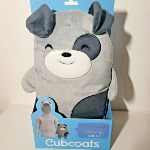 NEW Cubcoats Pimm the Pup Transforming 2 in 1 HOODIE & Soft Plushie SIZE 6-7