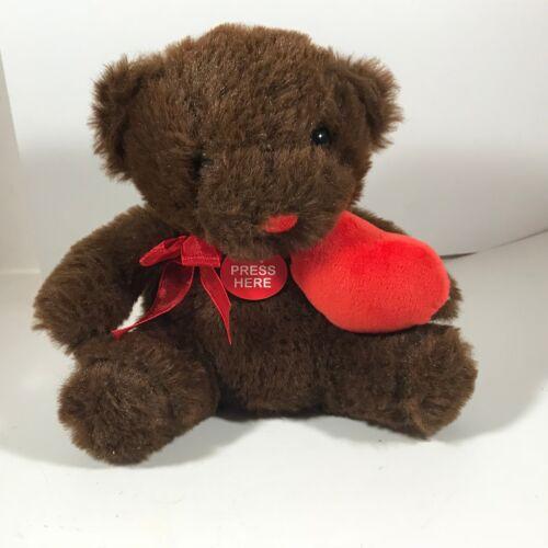 "Homerbest Brown Valentines Talking Teddy Bear Sitting Plush Toy 6"""