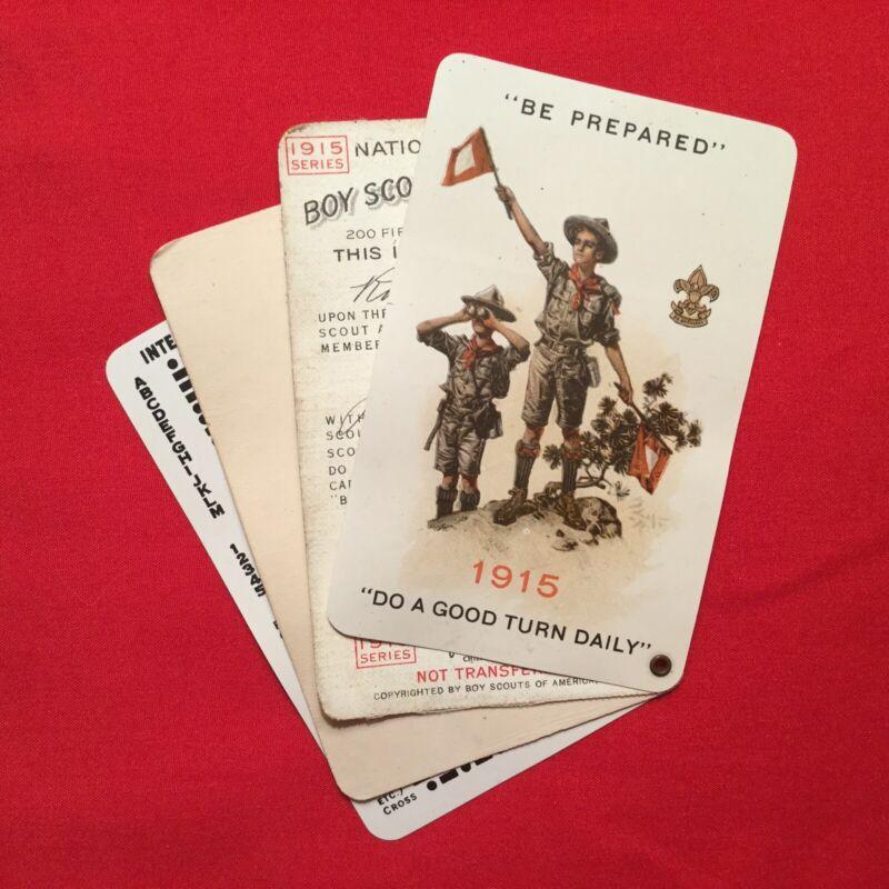 Boy Scout 1915 Celluloid  4 Part Membership Card Roy Butterfield