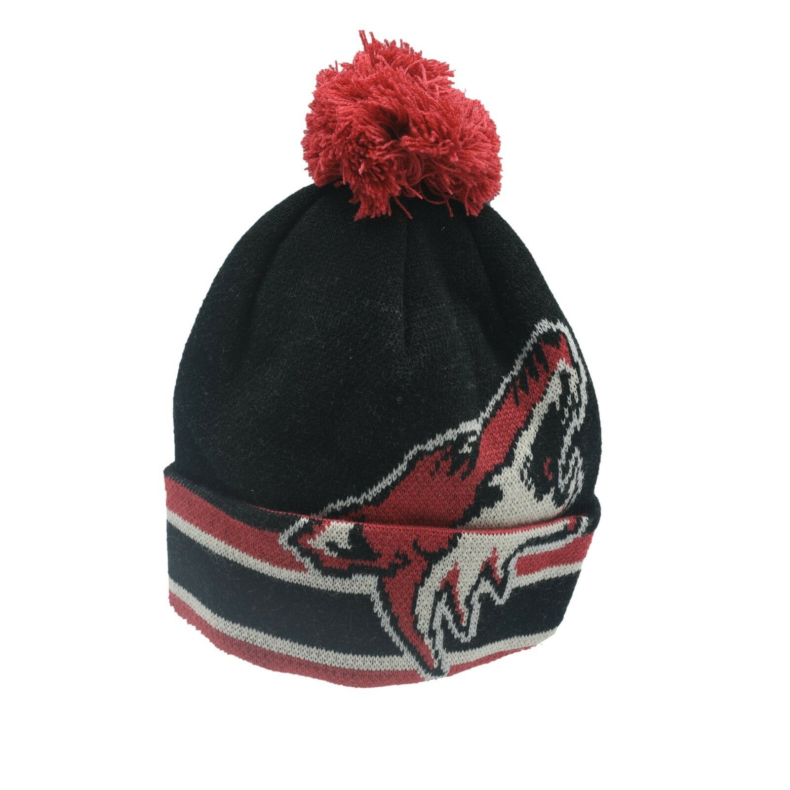 quality design 19a48 5ebcc Arizona Coyotes NHL CCM Youth Boys (8-20) Cuffed Pom Knit Winter Beanie New  Tags