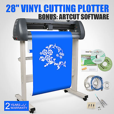 "NEW 28"" VINYL SIGN STICKER CUTTER PLOTTER WITH CONTOUR CUTTING MACHINE ARTCUT US"