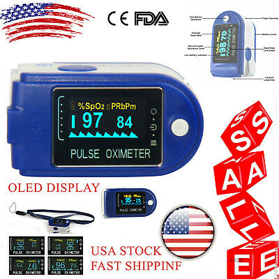 Pulse Oximeter Blood Oxygen Saturation Spo2 Heart Rate Pr Monitor Fda Ce Usa