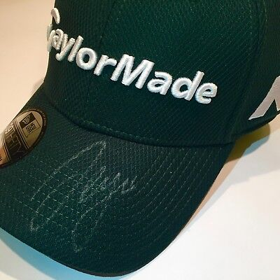 Sergio Garcia signed Masters Green Golf Cap, BMW International Open, Taylormade