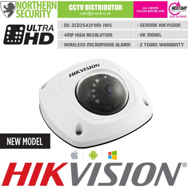 HIKVISION 2.8mm DS-2CD2542FWD-IWS 4MP 1080P Wifi Mic Mini CCTV IP Network Camera