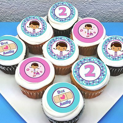 Doc McStuffins Edible Icing Cupcake Toppers - 2