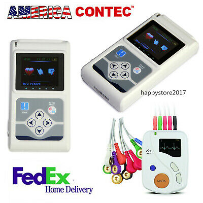 Us Stock 3 12-lead Holter Ecg Monitor Machine Recorder Analyzer Sync Software