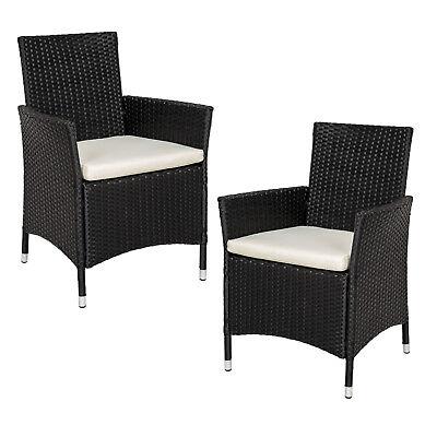 2er Set Polyrattan Stühle Gartenstuhl Sessel Rattanstuhl Gartenmöbel BWare
