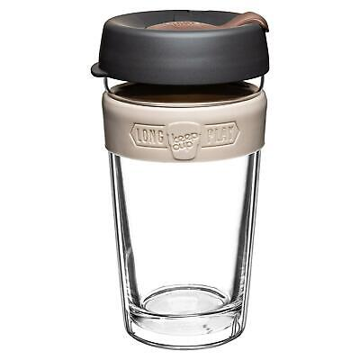 KeepCup LongPlay Glass Reuseable Coffee Tea Cup Travel Mug - 454ml 16oz - Syphon
