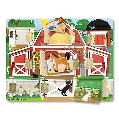 Melissa & Doug Hide and Seek Farm  Activity Board With Barnyard Animal (Melissa & Doug Magnetic Hide And Seek Board)