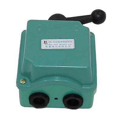 Qs-15 Ac 380v15a 3 Position Rain Proof Forward Reversing Motor Drum Switch