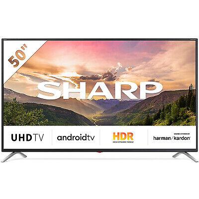 "SMART TV SHARP LED 50"" POLLICI 4K ULTRA HD 2160P INTERNET TV WI-FI DVB-C/S2/T2"