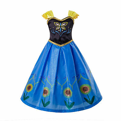 Frozen Girls Cosplay Costume Princess Toddler Fancy Dress Party Outfits Age 3-7 - Frozen Costume Toddler