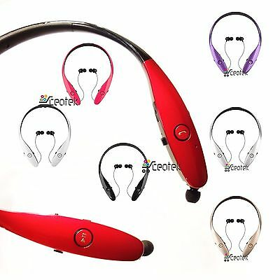 Bluetooth Wireless Headset Stereo Headphone Earphone Sport Hand free Universal