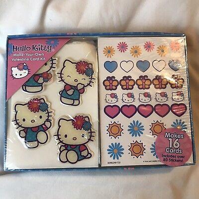 Hello Kitty Valentine (Rare Vintage Sanrio Hello Kitty Make-Your-Own Valentine Card Kit)