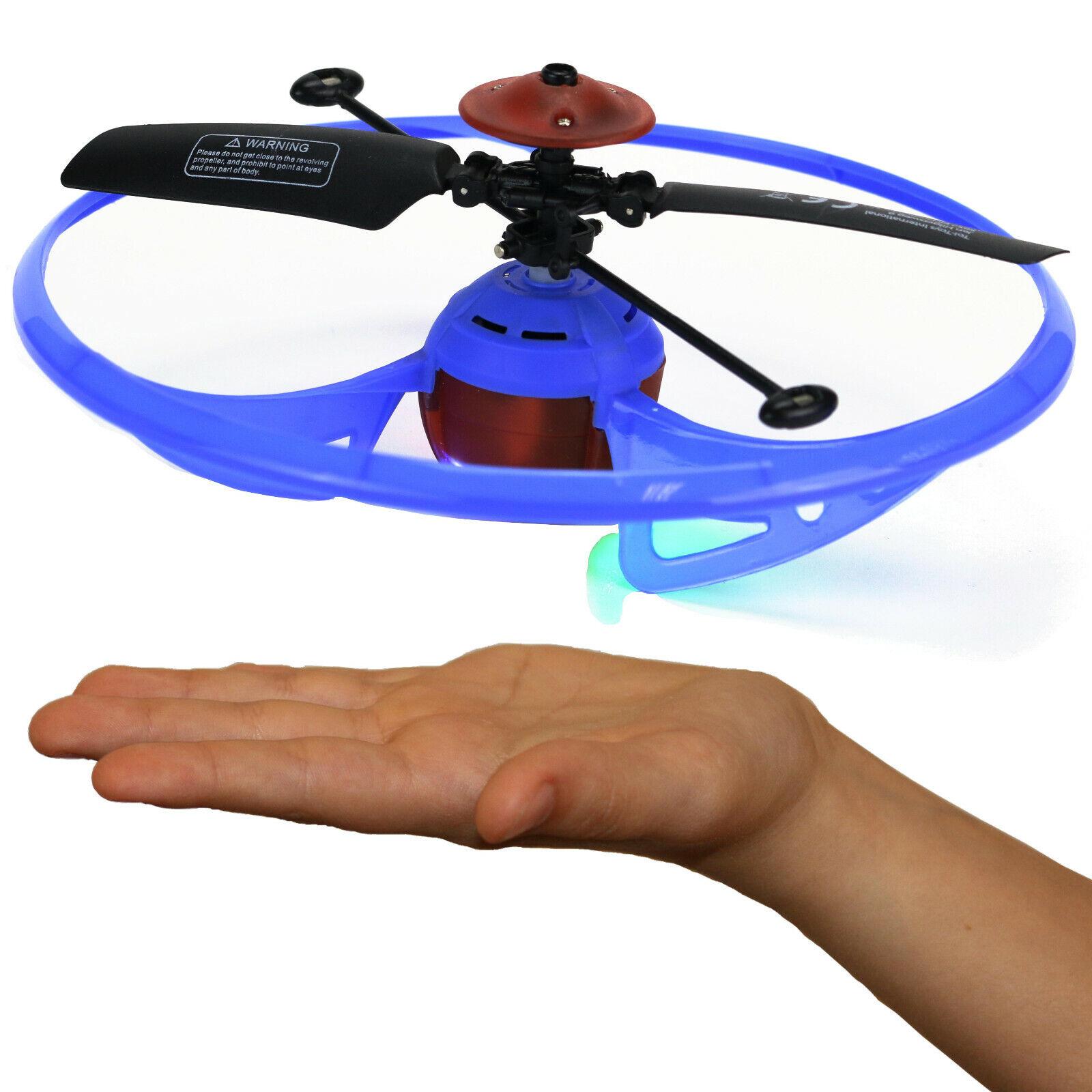 Infrarot UFO mit Hand steuerbar Spielzeug Drohne ab 8 Jahre USB Ladekabel 14cm Ø
