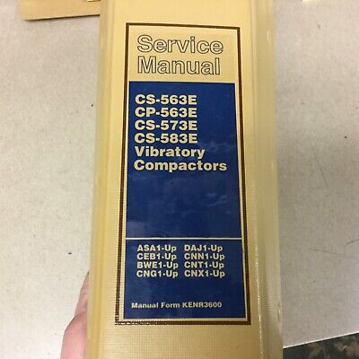 Cat Caterpillar Cpcs-563e 573e 583e Service Shop Repair Manual Compactor Guide