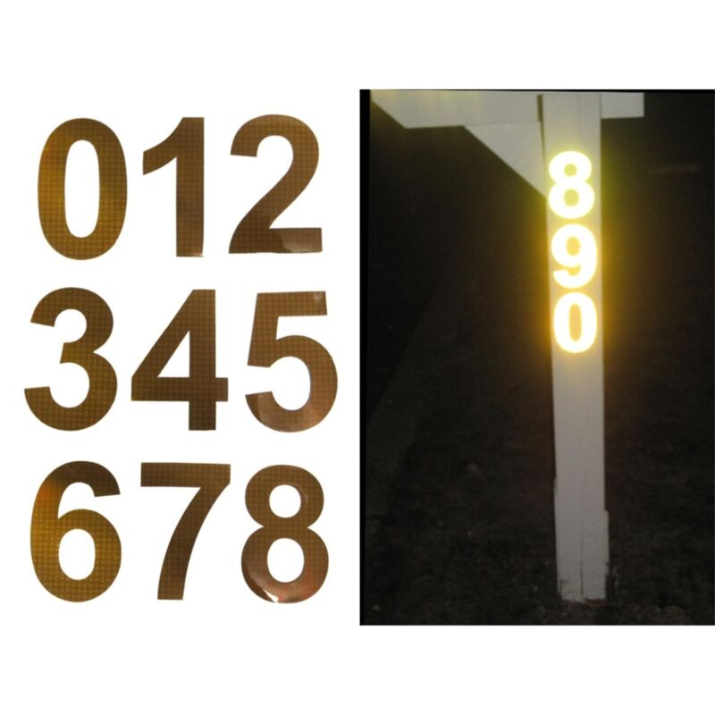 Bright Ideas Retro-Reflective Address Numbers: Great for Curbside Mailboxes!