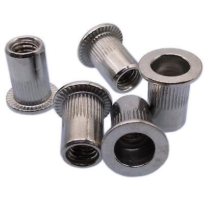 Us Stock 25pcs M5x0.8x13mm Lfk Stainless Steel Rivet Nut Rivnut Insert Nutsert