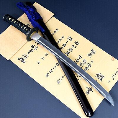 Authentic JAPANESE KATANA SWORD WAKIZASHI HIROTAKA 汎隆 signed w/CERTIFICATION NR!