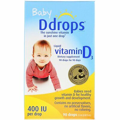 DDROPS VIT D,BABY,400 IU,90 DROP, .08 FZ