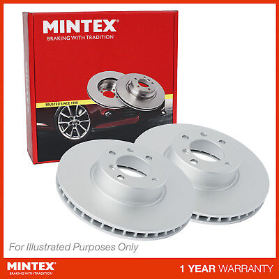 Fits Honda CR-V MK3 2.2i-CTDi Genuine Mintex Front Coated Vented Brake Discs Set