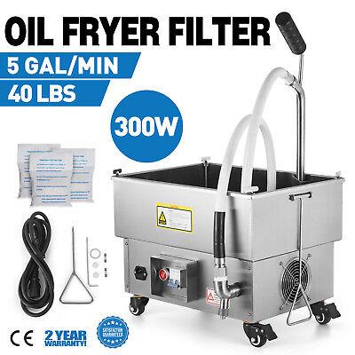 22l Fryer Oil Filter Machine Commercial Oil Filtration System