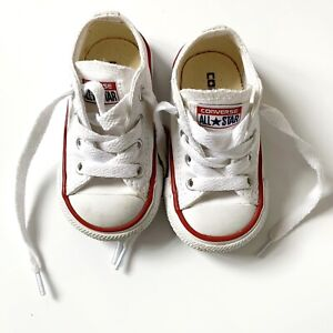 95ced3eff9dfa9 CONVERSE ALLSTAR Toddler White Low Top Running Shoe (size 4)