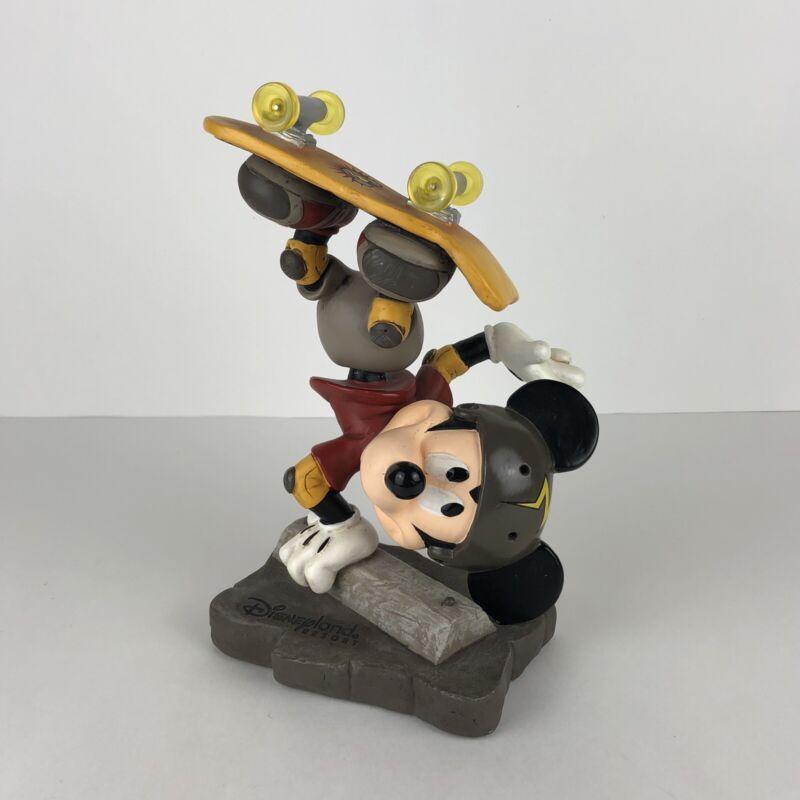 "Disneyland Resort MICKEY MOUSE - Skateboarding Bobble head Statue/Figure 10"""
