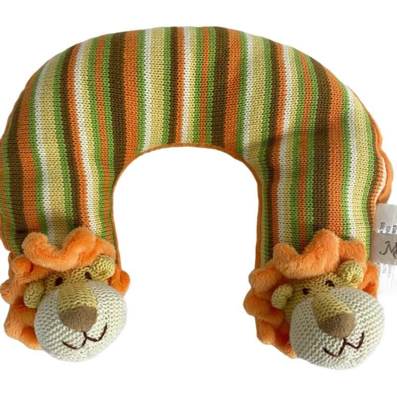 Maison Chic Infant Baby Head Support Orange Lion Yellow Travel Neck Pillow