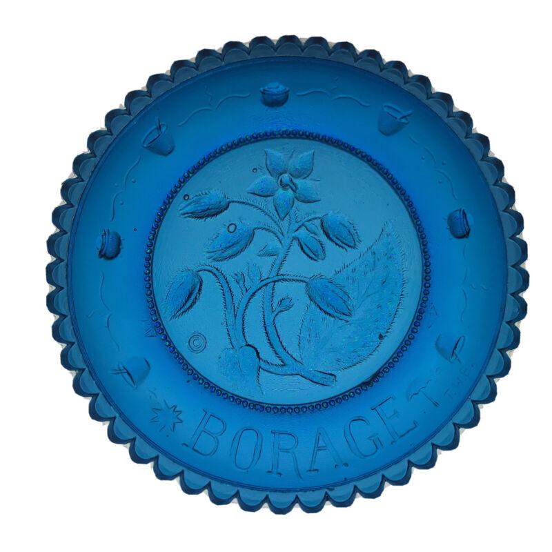 Borage Starflower Blue Flower Thornton Burgess Herb Vintage Pairpoint Cup Plate