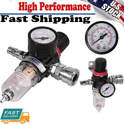 14 Air Compressor Moisture Filter Trap Oil Water Filter Trap Regulator Gauge