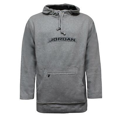 Nike Jordan Mens Basketball Hoodie Oversized Tall Sweatshirt Grey 133950 063 XL