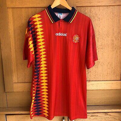 Vintage Spain 1994 MINT Adidas Football Shirt Soccer Jersey España Camiseta 94 image