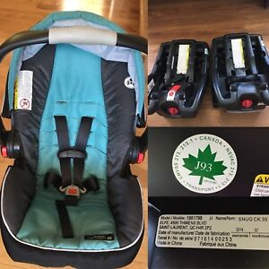 Excellent cond. - Graco car seat and 2 Bases
