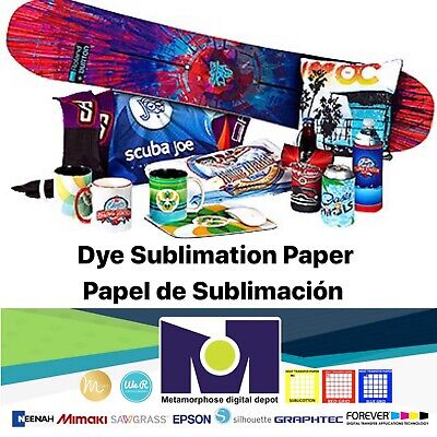100 Sh 8.5x11 Dye Sublimation Heat Transfer Paper For Polyester T- Shirts Mugs