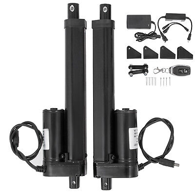 2pcs 12v 6 Linear Actuator Power Supply Remote Control Brackets
