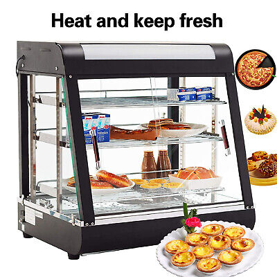 3 Tiers Commercial Food Pizza Warmer Cabinet Counter-top Heated Display Case ()