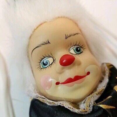 Cute Doll Halloween (Creepy Cute Clown Doll On Swing Halloween Horror Black Spooky Hanging Decor)