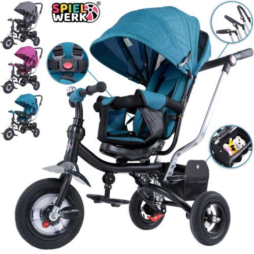 Spielwerk Kombi Kinderwagen Dreirad Buggy 3in1 Dach Kinderdreirad Schubstange