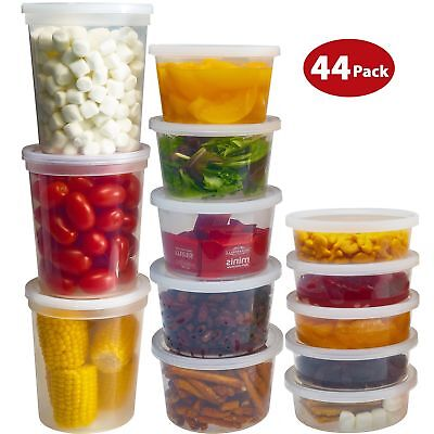 DuraHome Food Storage Containers with Lids 8oz, 16oz, 32oz Deli Cups Combo (Lid Combo Pack)