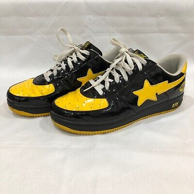 Bape Bapesta Batman Shoes Size 11 US A Bathing Ape Black Yellow Foot Soldier DC
