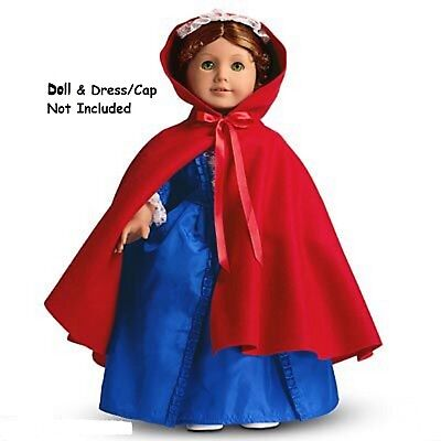 American Girl Felicity's Cardinal Cloak NIB Red Cape Retired Fast Shipping